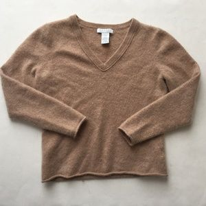 Tweeds 100% 2-Ply Cashmere Sweater Light Brown